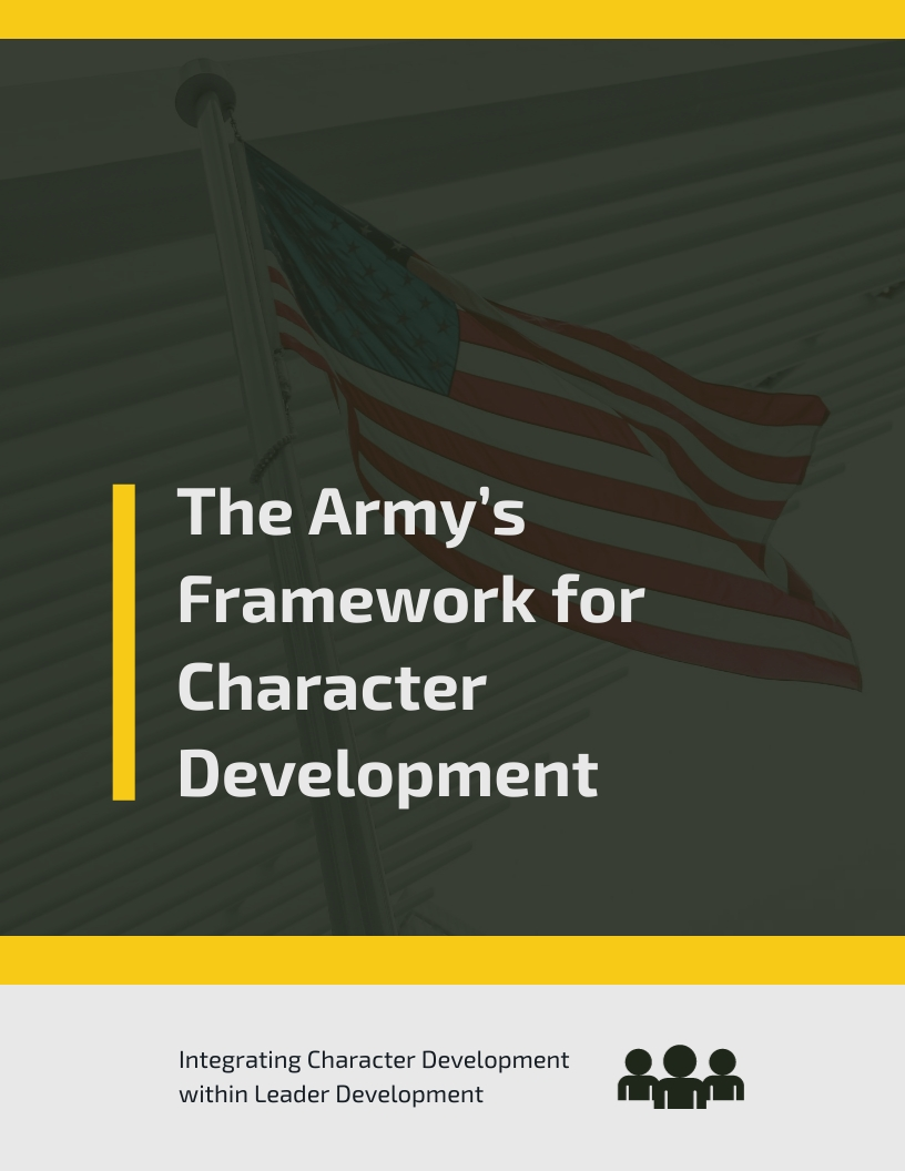 Army White Paper Template