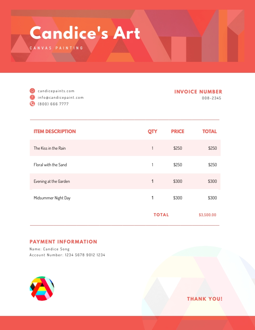 Art - Invoice Template
