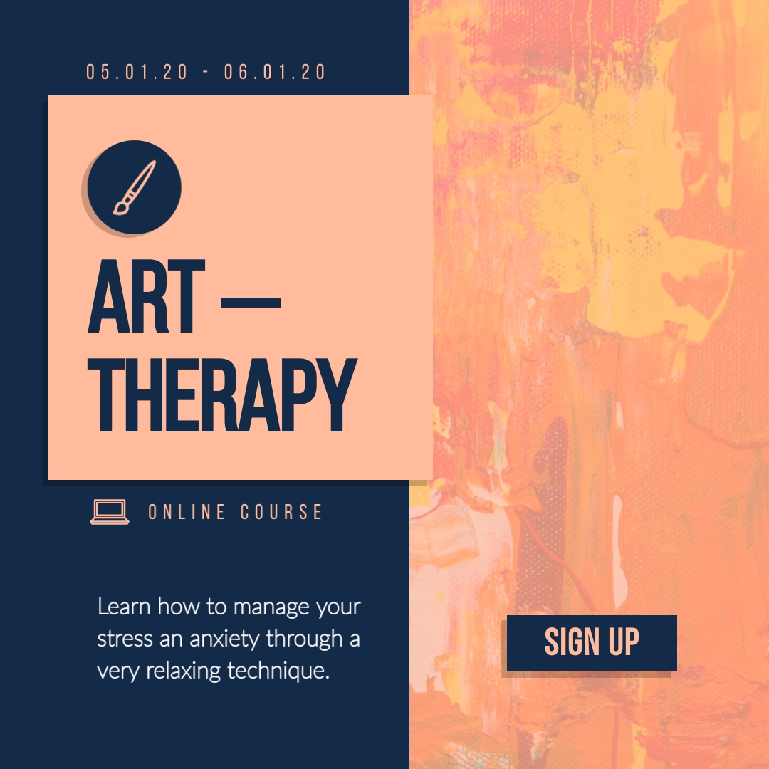 Art Therapy Animated Square  Template