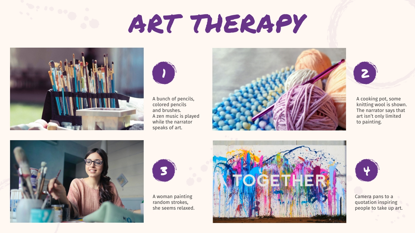 Art Therapy Storyboard Template