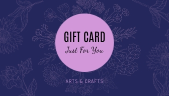 Arts and Crafts - Gift Card Template