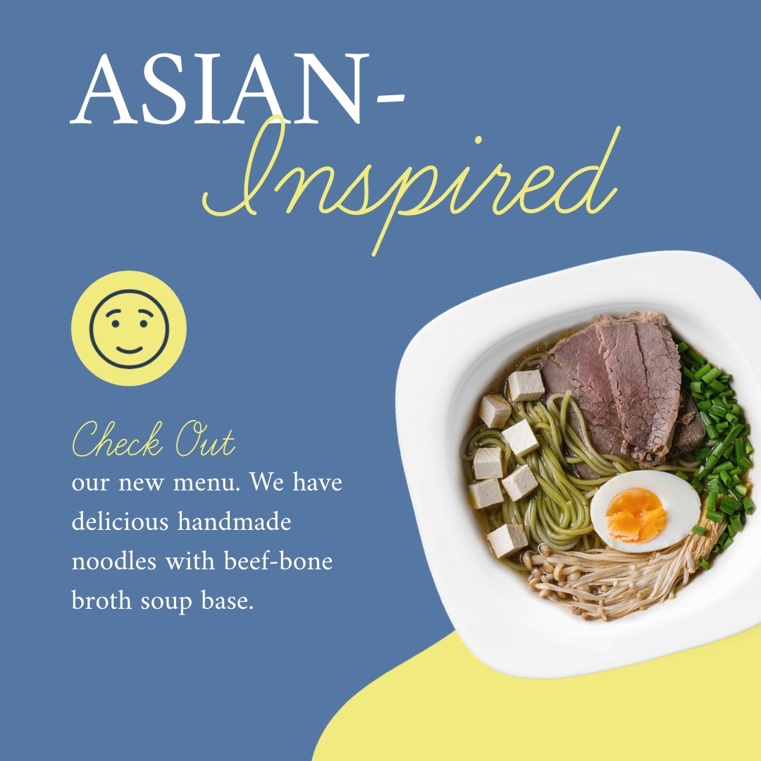 Asian Inspired Noodles Soup Square Template