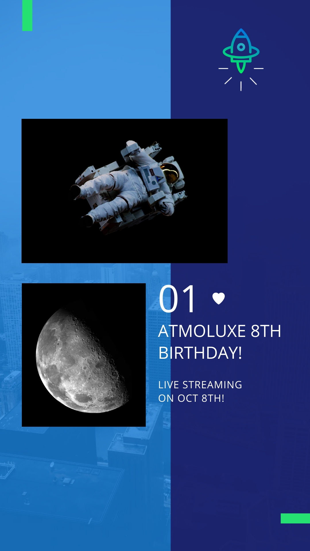 Atmoluxe Celebrations Animated Vertical Template