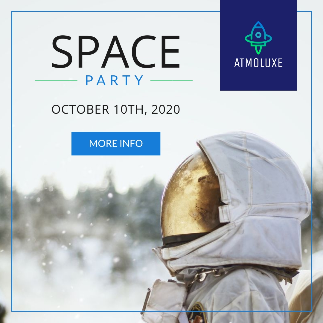 Atmoluxe Space Party Animated Square Template