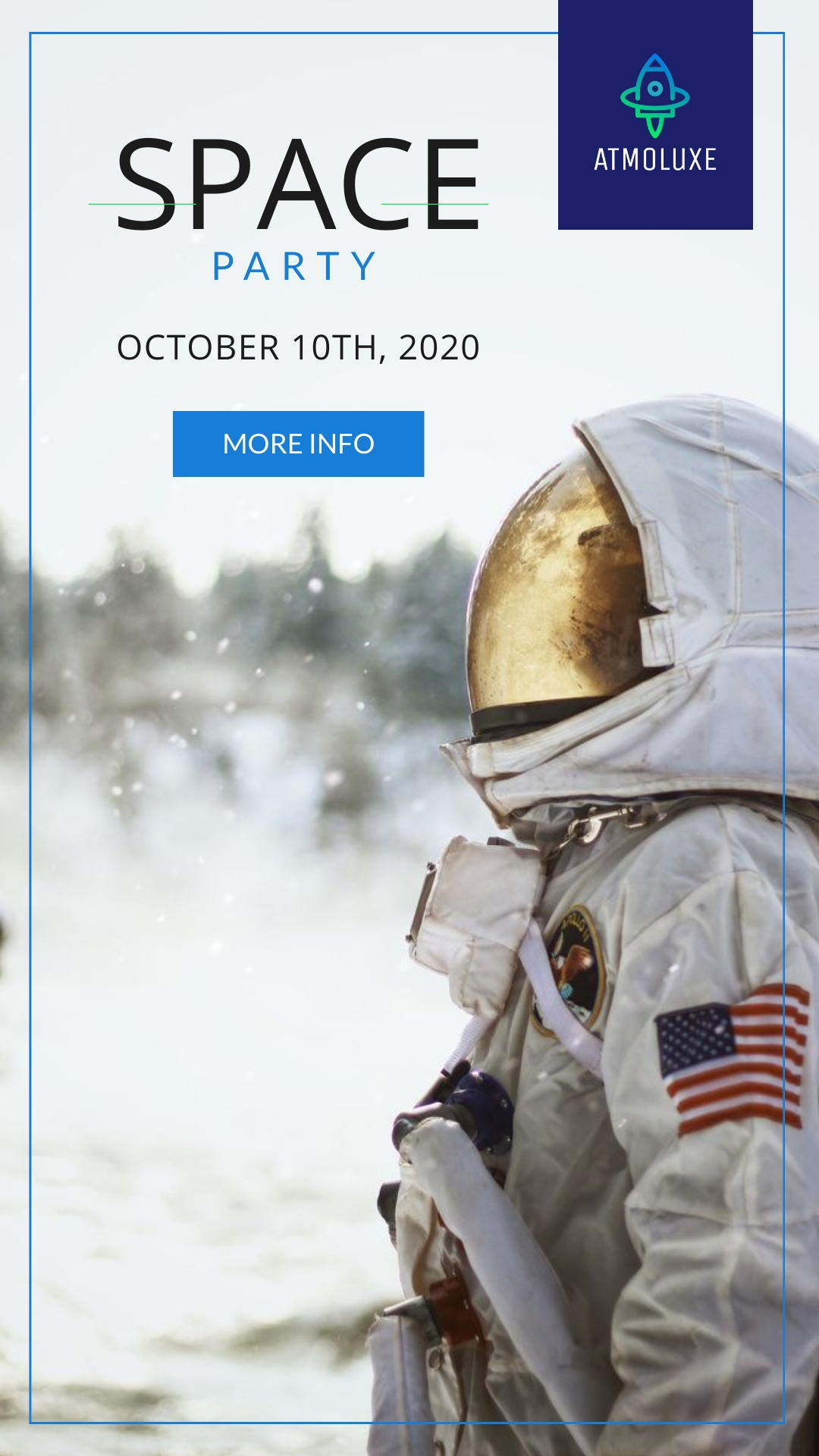 Atmoluxe Space Party Animated Vertical Template