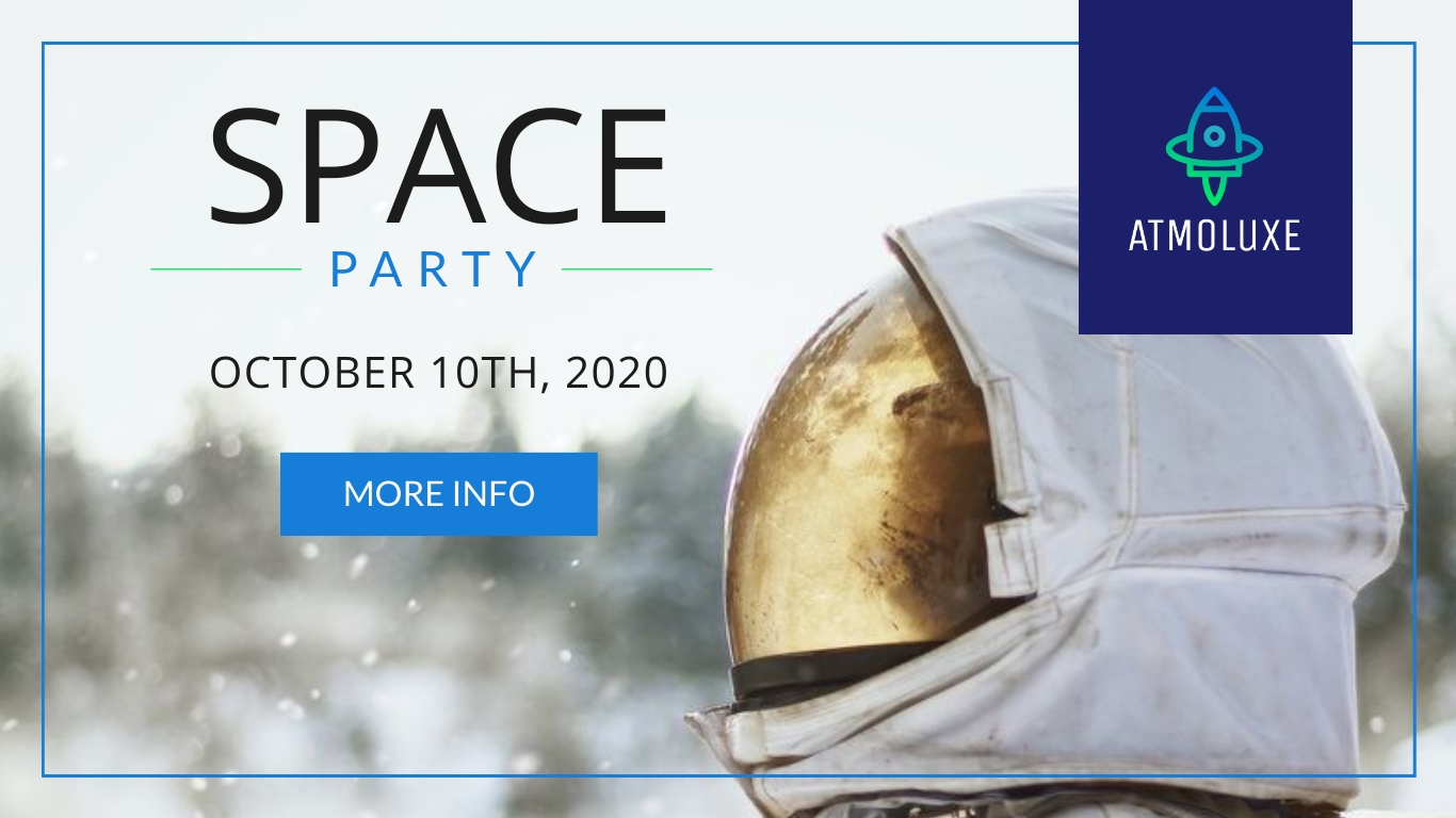 Atmoluxe Space Party Animated Wide Template