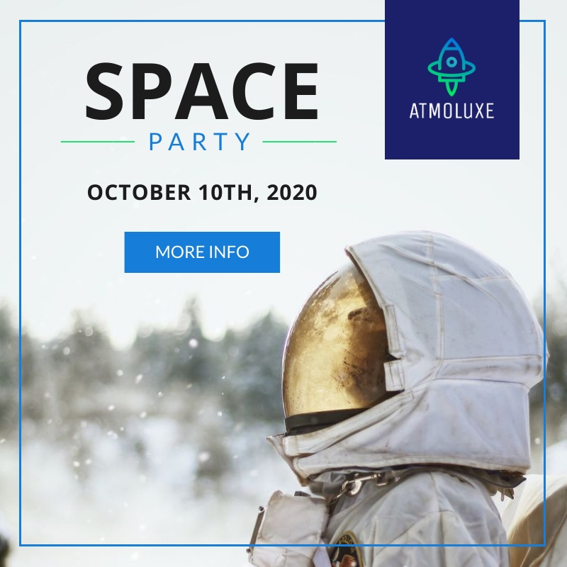 Atmoluxe Space Party Blog Graphic Medium Template
