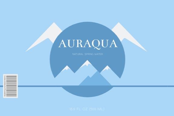 Auraqua Water Label Template