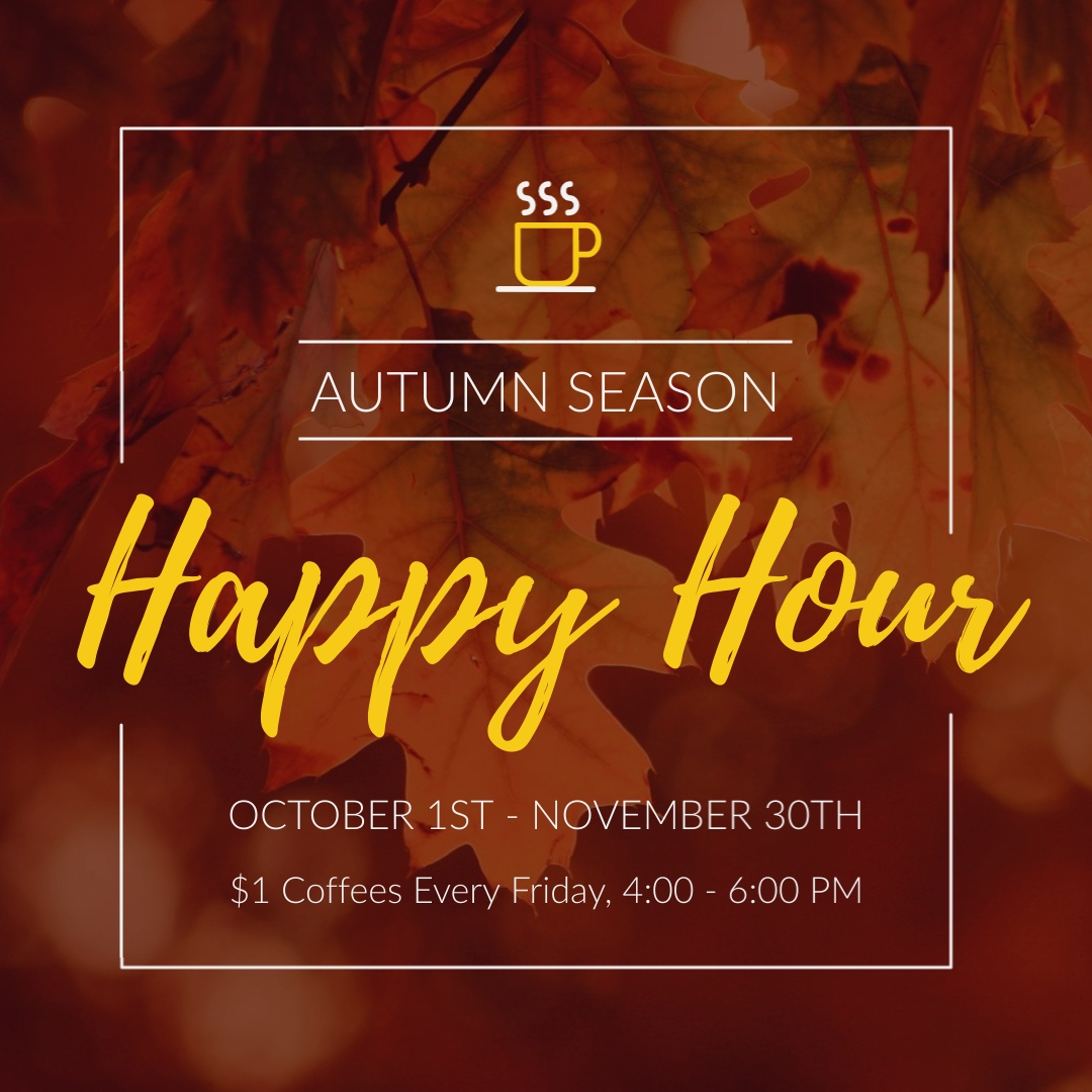 Autumn Happy Hour Animated Square Template