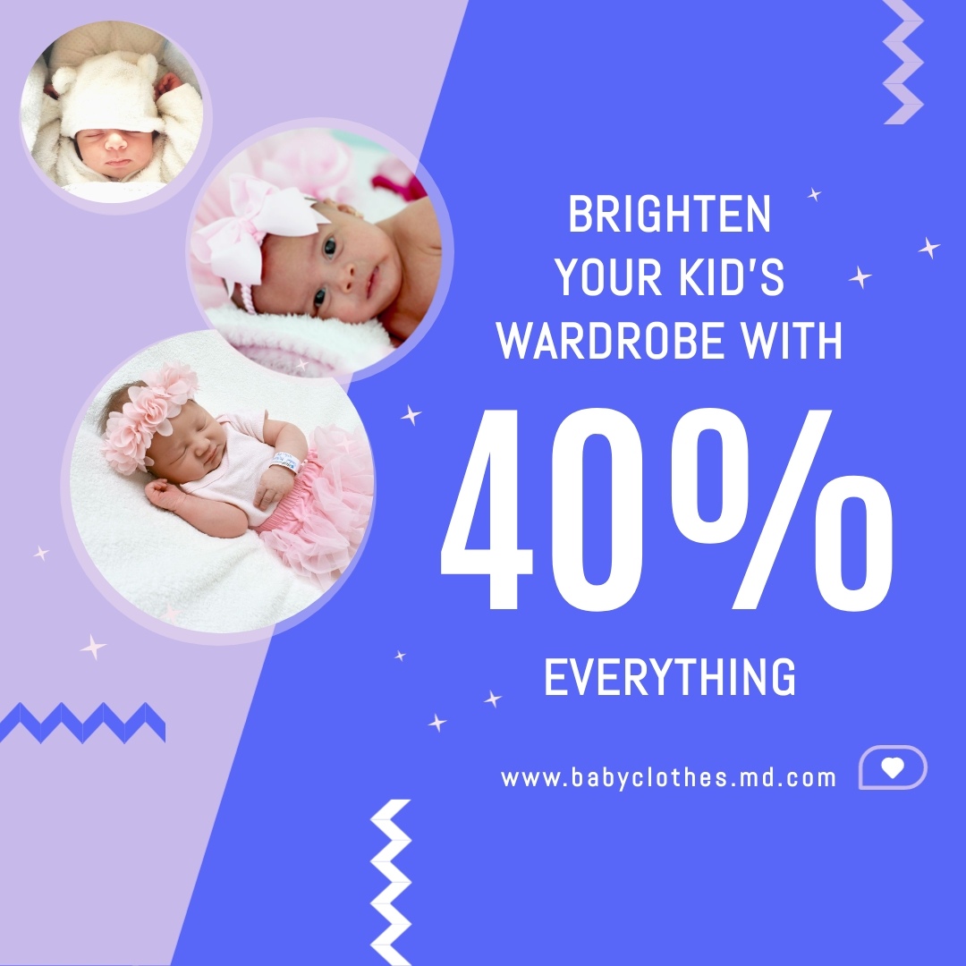 Baby Clothes Bite-Sized Ad Square Template