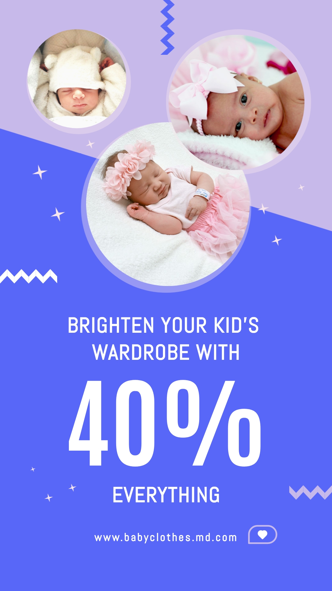 Baby Clothes Bite-Sized Ad Vertical Template