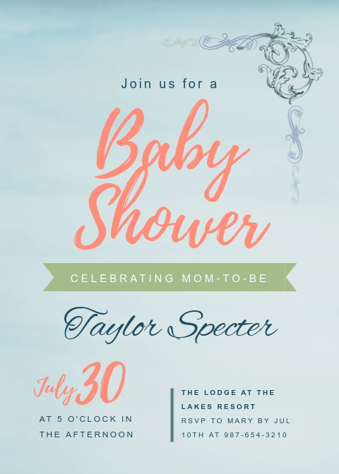 Baby Shower - Invitation Template