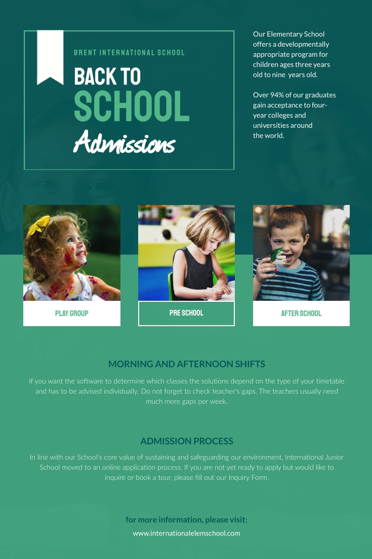 Back to School Admission Pinterest Post Template