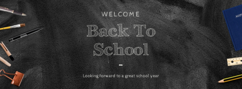 Back to School Board Facebook Cover  Template