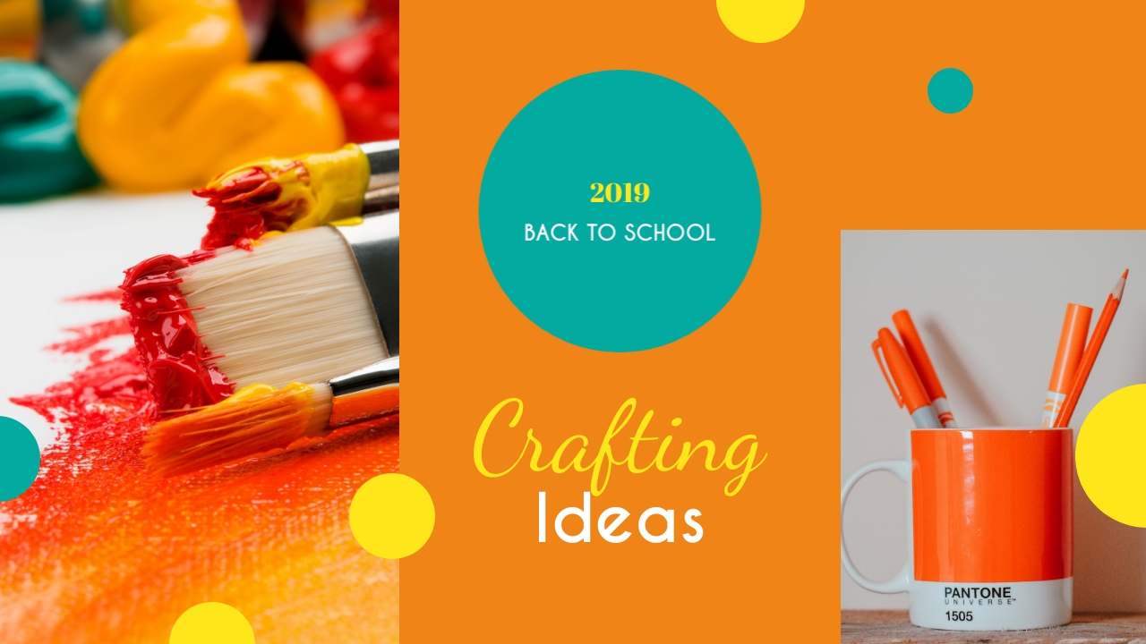 Back to School Crafting Ideas Youtube Video Cover Template