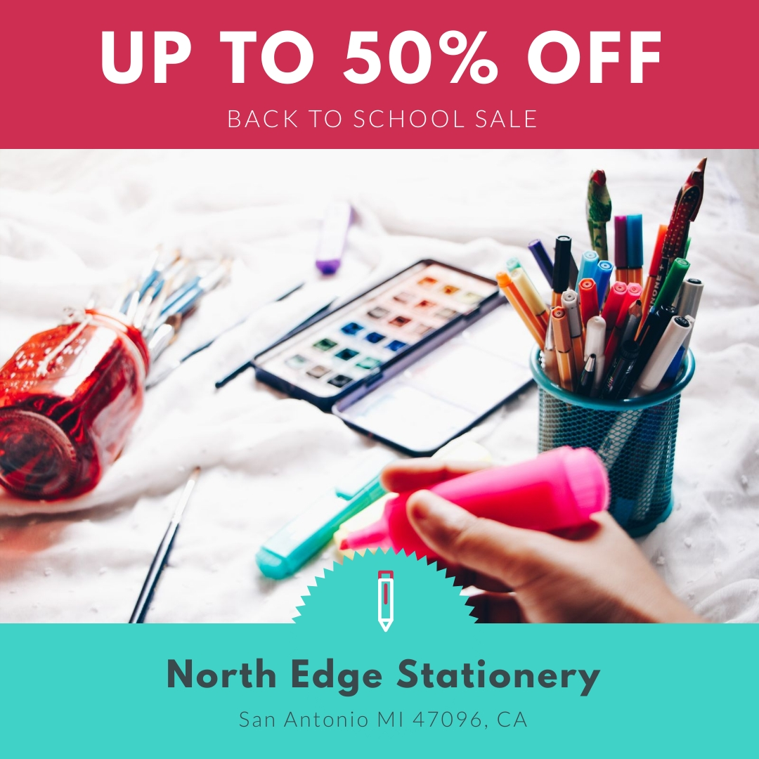 Back to School Sale Animated Square Template