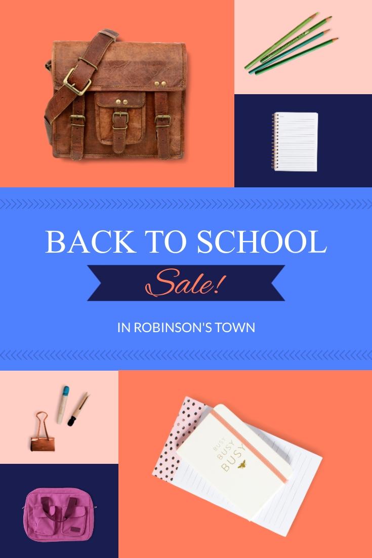 Back to School Sale Pinterest Post Template