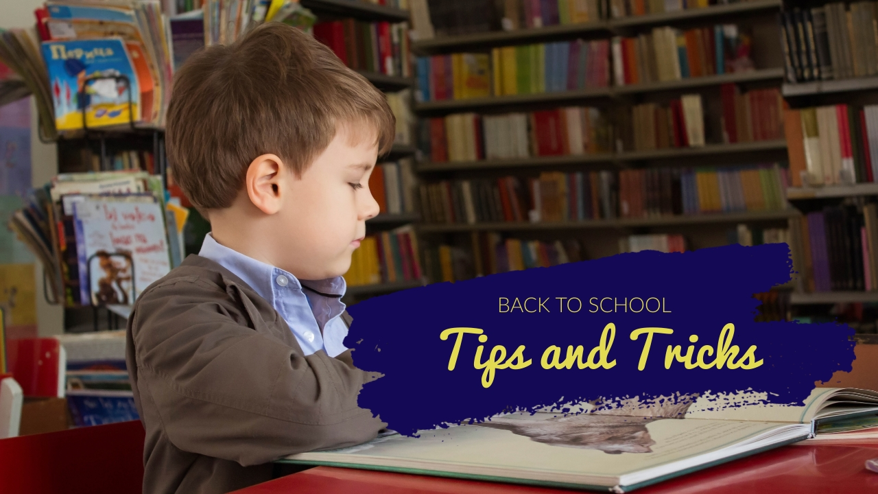 Back to School Tips and Tricks Youtube Video Cover Template