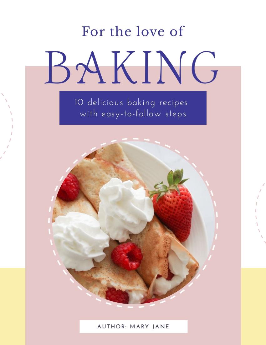 Baking Recipe - Interactive Ebook Template