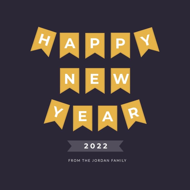 Banner New Years Blog Graphic Medium  Template