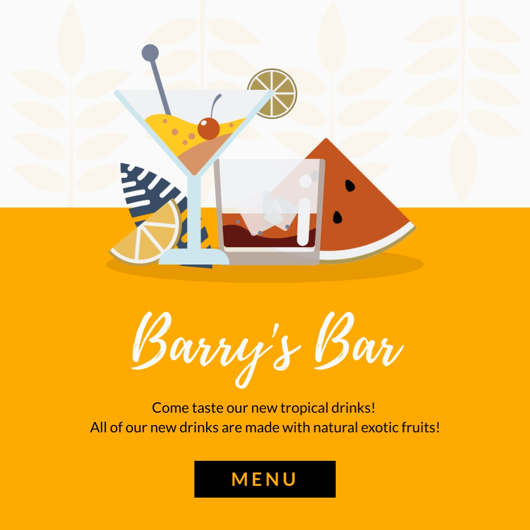 Barrys Bar Square Template
