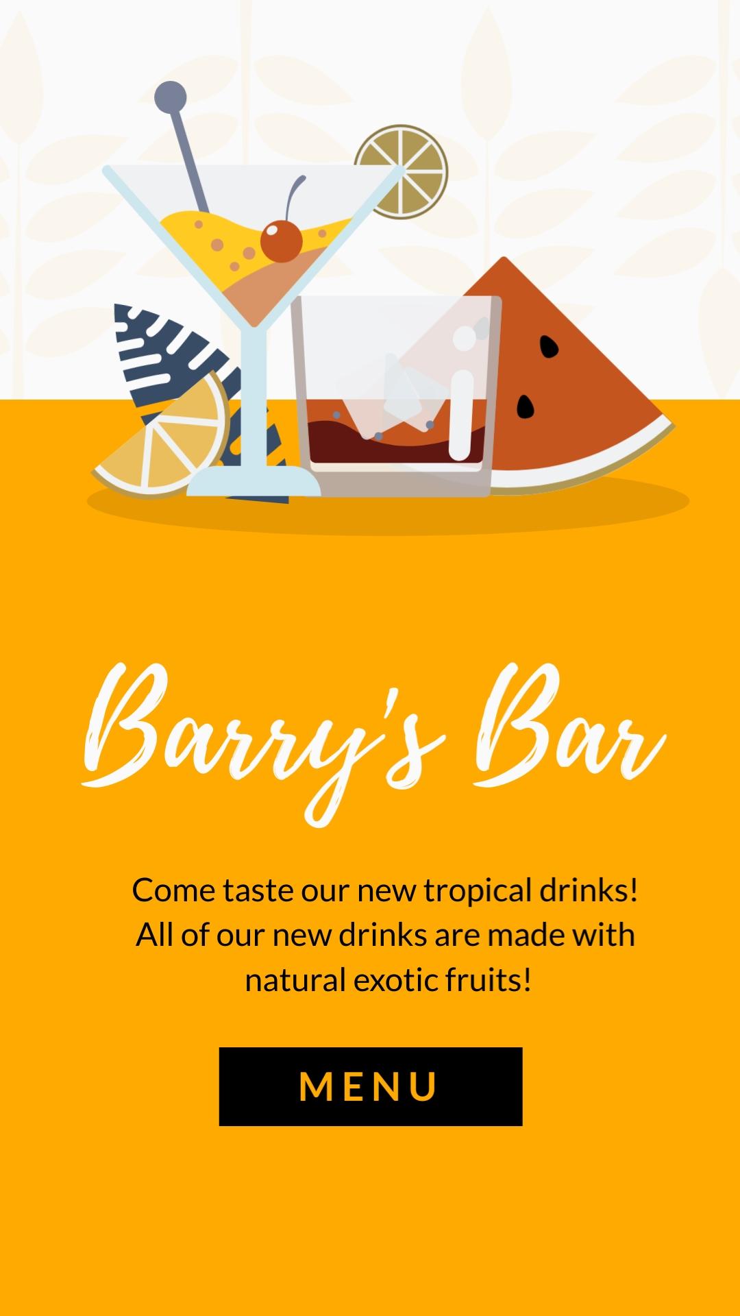 Barrys Bar Vertical Template