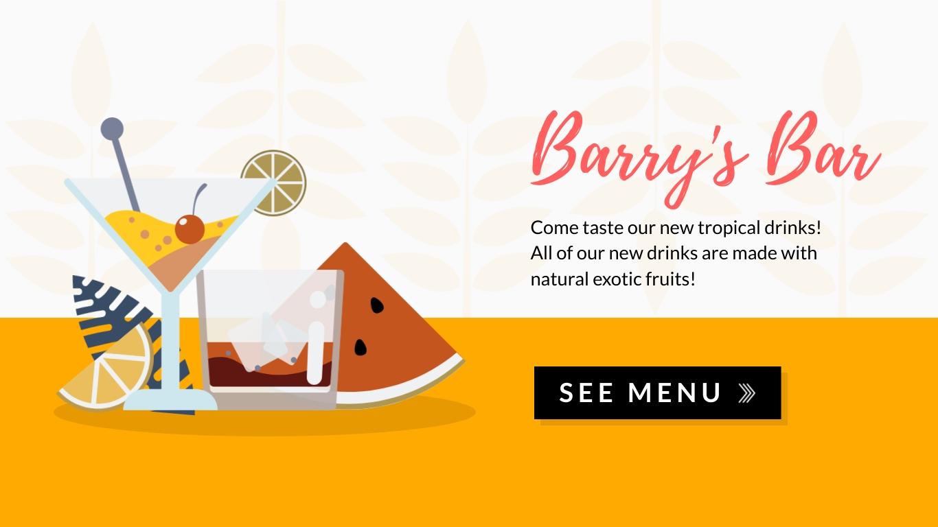 Barrys Bar Wide Template