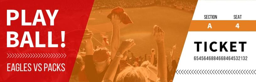 Baseball Game Ticket Template