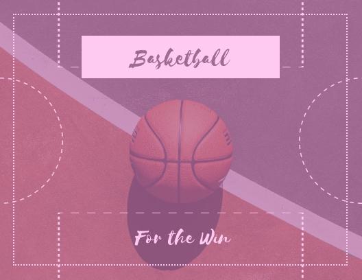 Basketball - Postcard Template