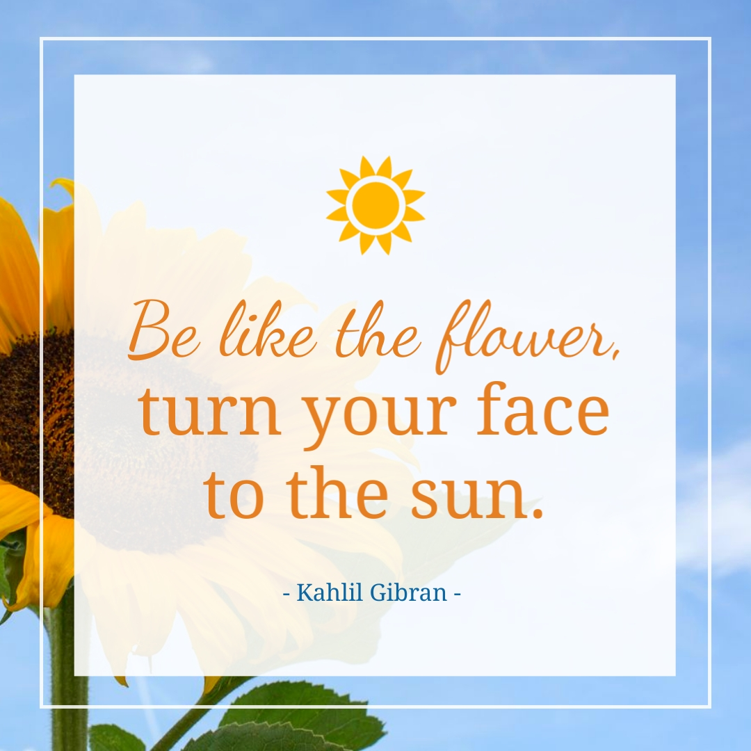 Be Like the Flower Quote Animated Square Template