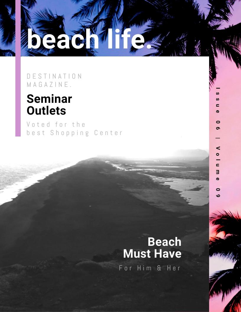 Beach Life - Magazine Cover Template