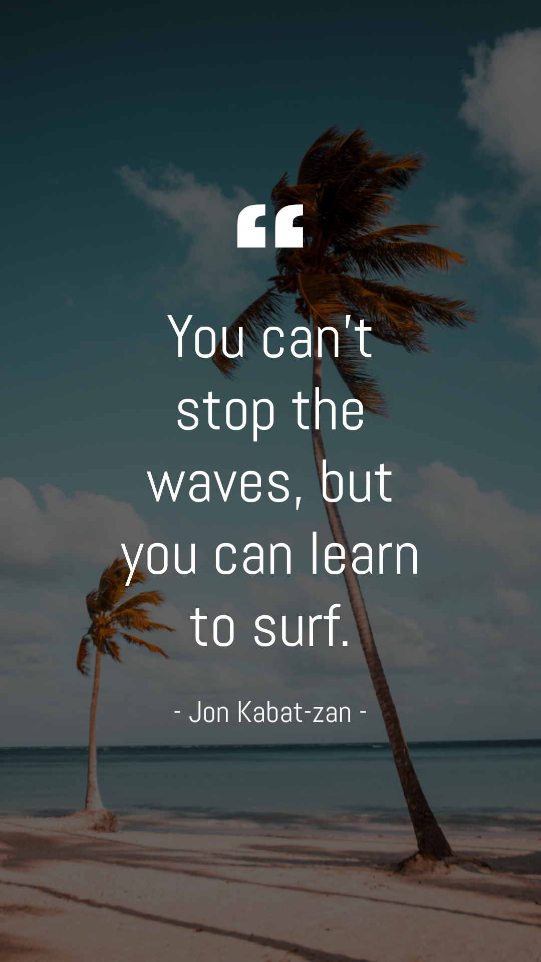 Beach Quote Phone Wallpaper Template