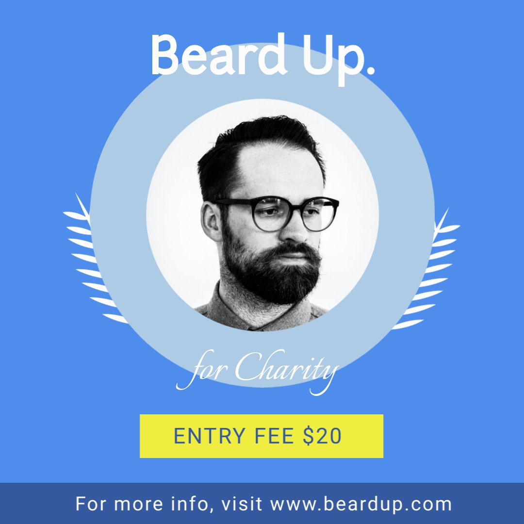 Beard Up for Charity Square Template