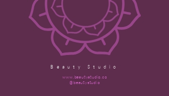 Beauty Studio - Business Card Template