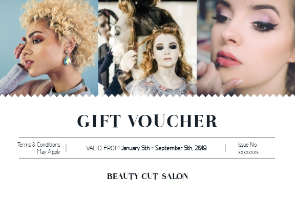 Beauty Cut Salon - Gift Certificate Template