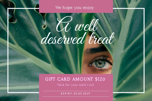 Beauty - Gift Certificate Template