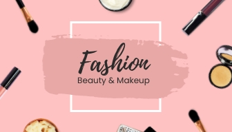 Beauty and Makeup - Gift Card Template