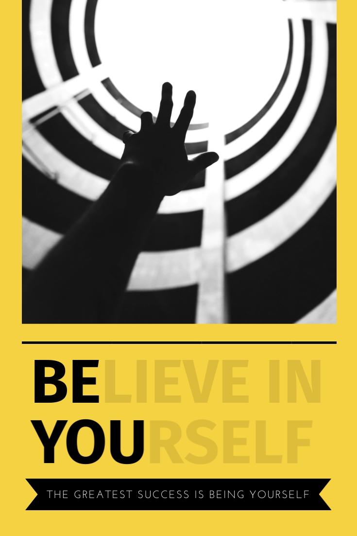 Believe in Yourself Pinterest Post  Template