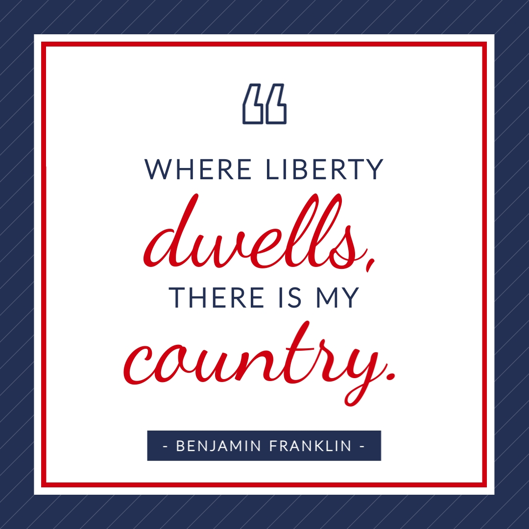 Benjamin Franklin Quote Animated Square Template