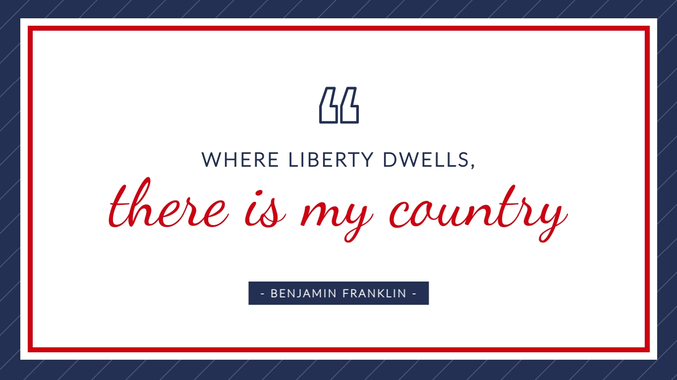 Benjamin Franklin Quote Animated Wide Template