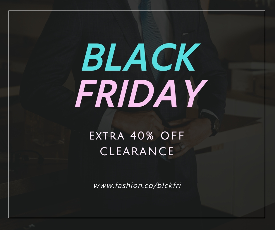 Black Friday Clearance Sale Facebook Post Template