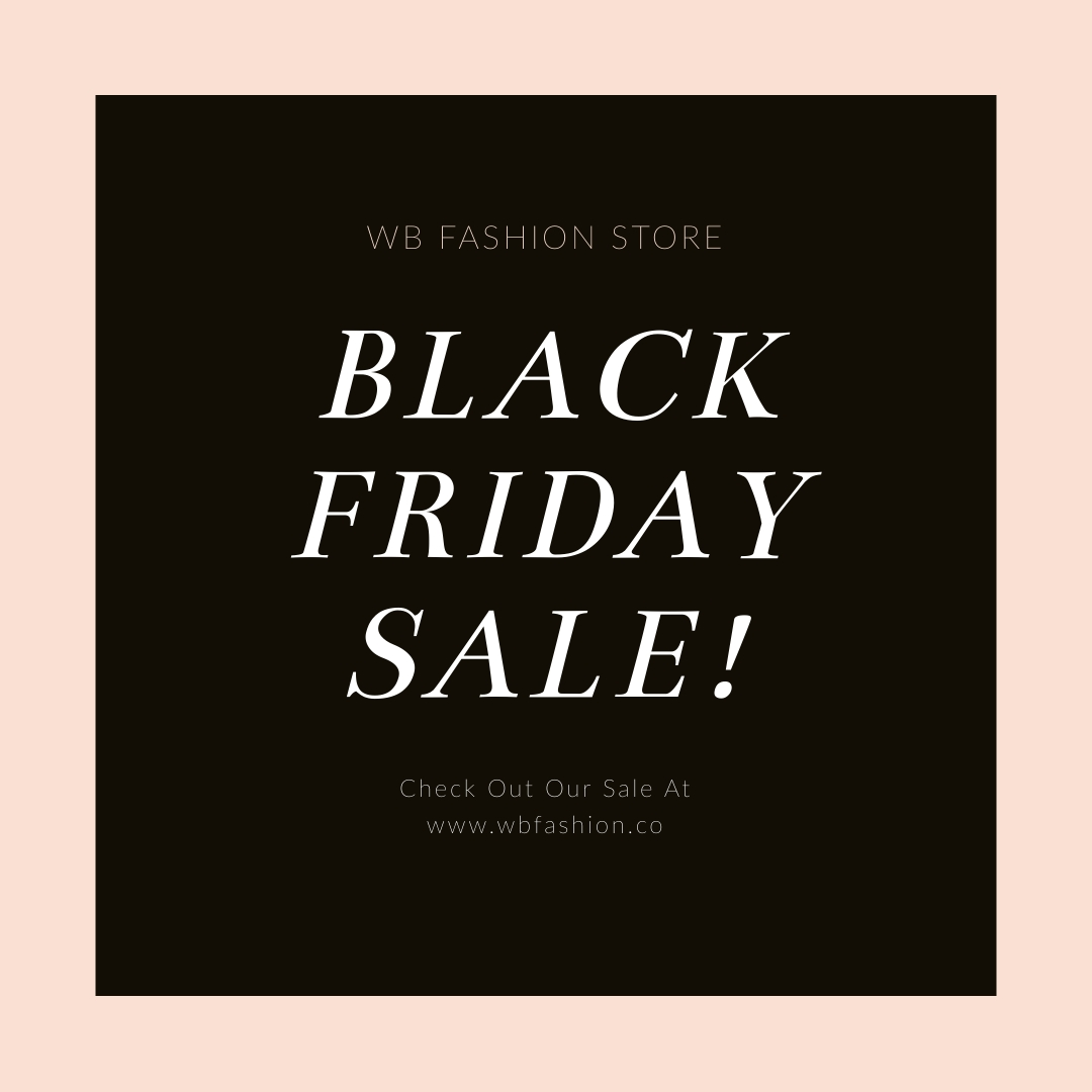 Black Friday Fashion Discounts Instagram Post Template