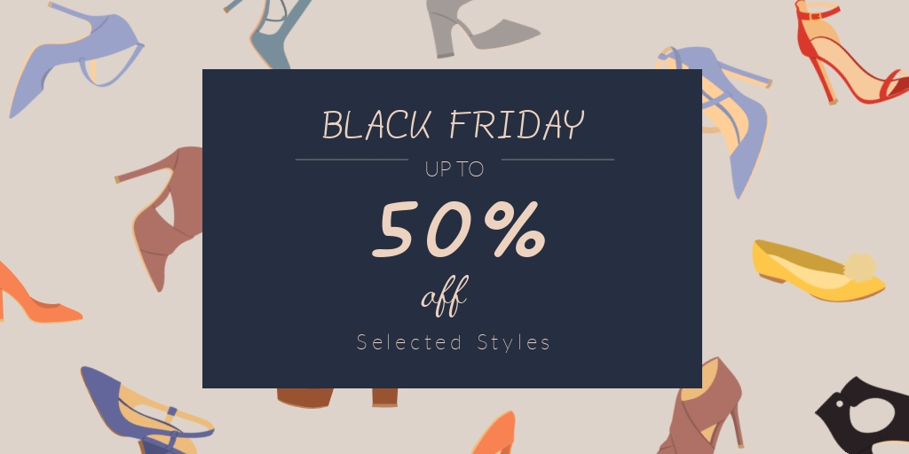 Black Friday Shoes Sale Twitter Post Template