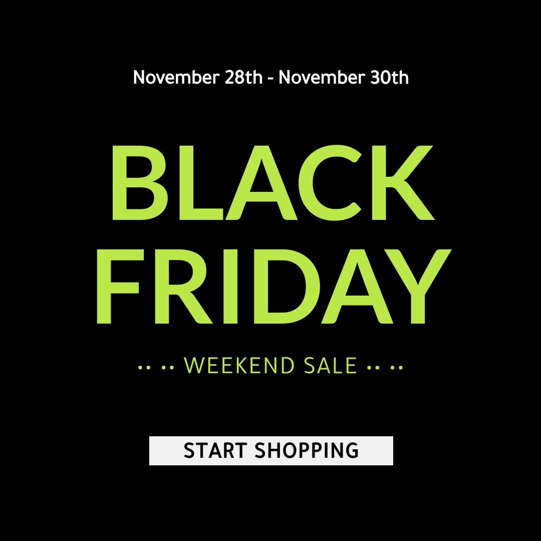 Black Friday Weekend Sale Blog Graphic Medium Template