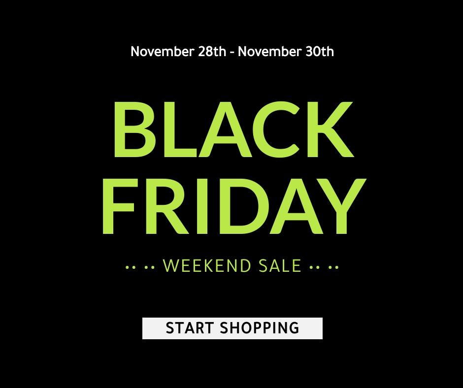 Black Friday Weekend Sale Facebook Post Template