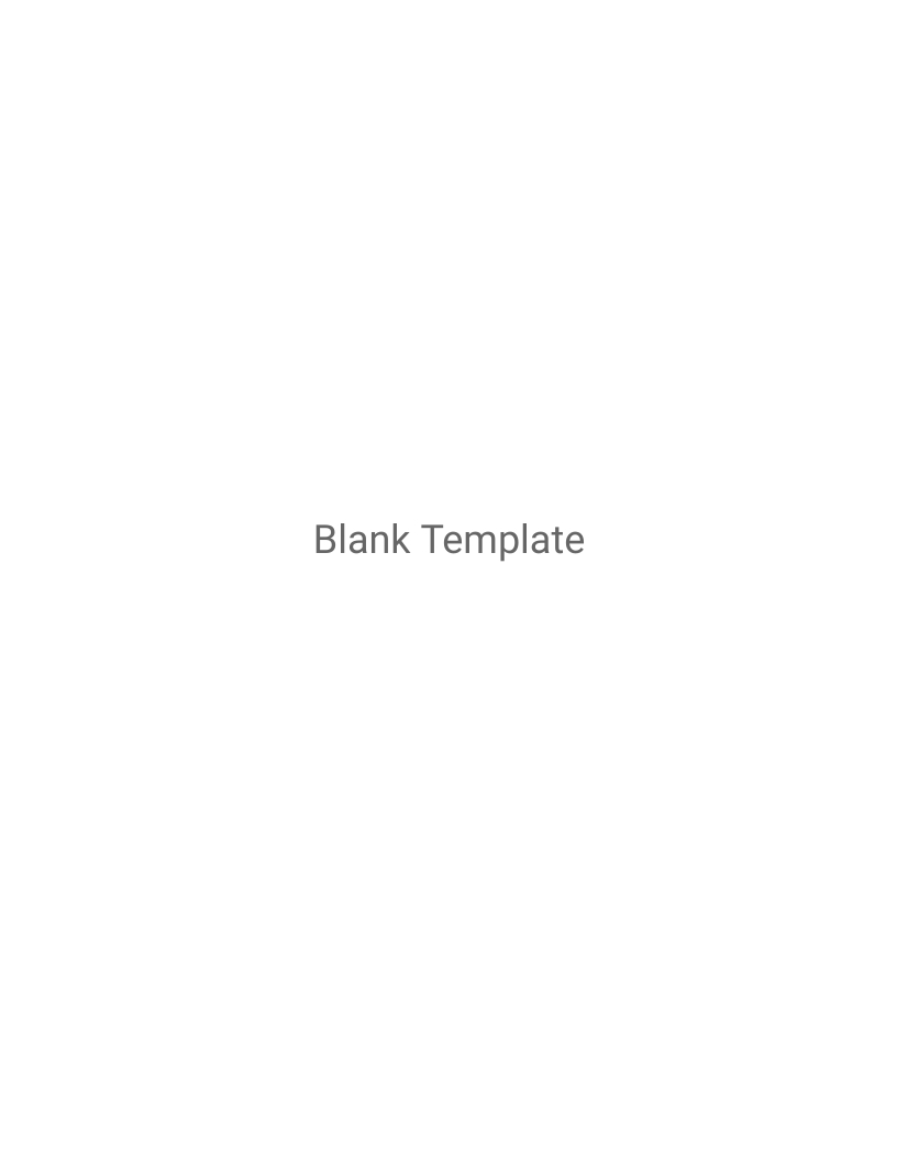 Blank Template Cover Letters Template