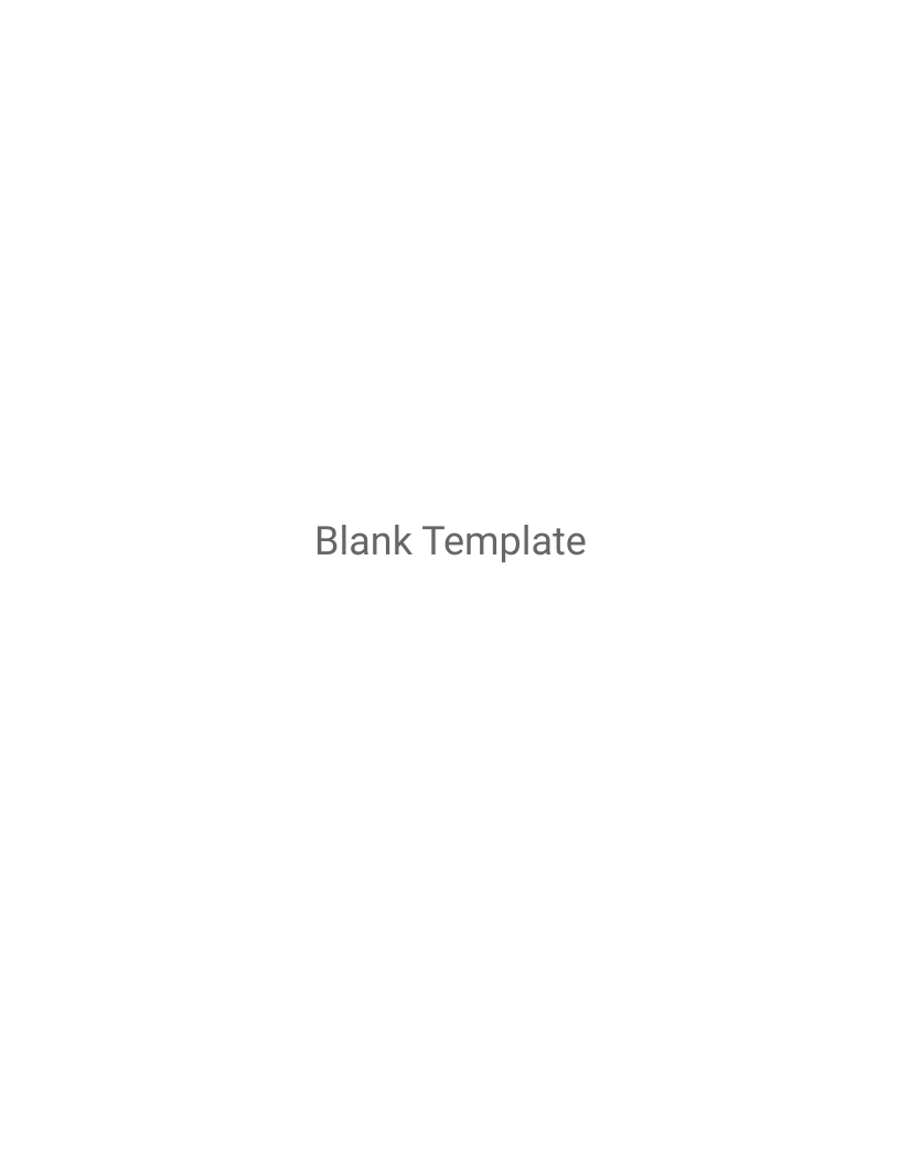 Blank Template Magazine Cover Template