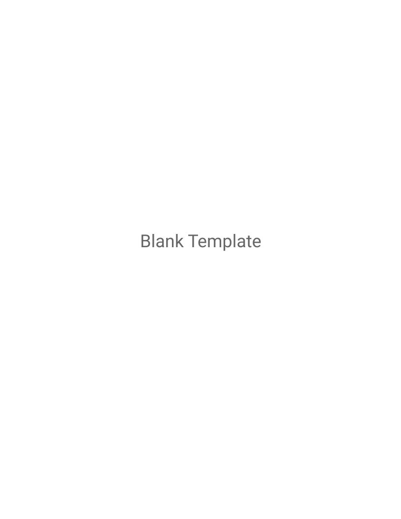 Blank Template Syllabus Template
