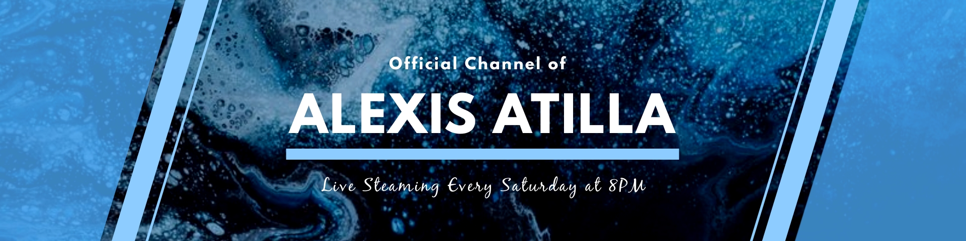 Blue Ocean Abstract Twitch Banner Template