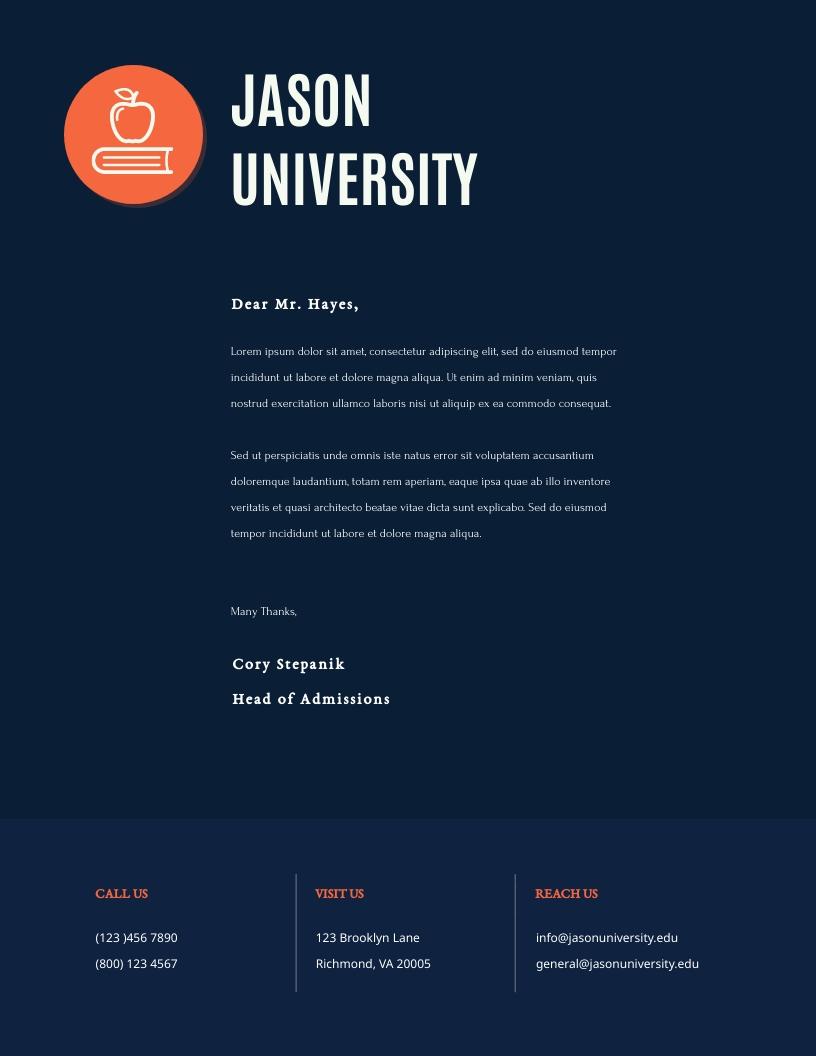 Blue Tone University - Letterhead Template
